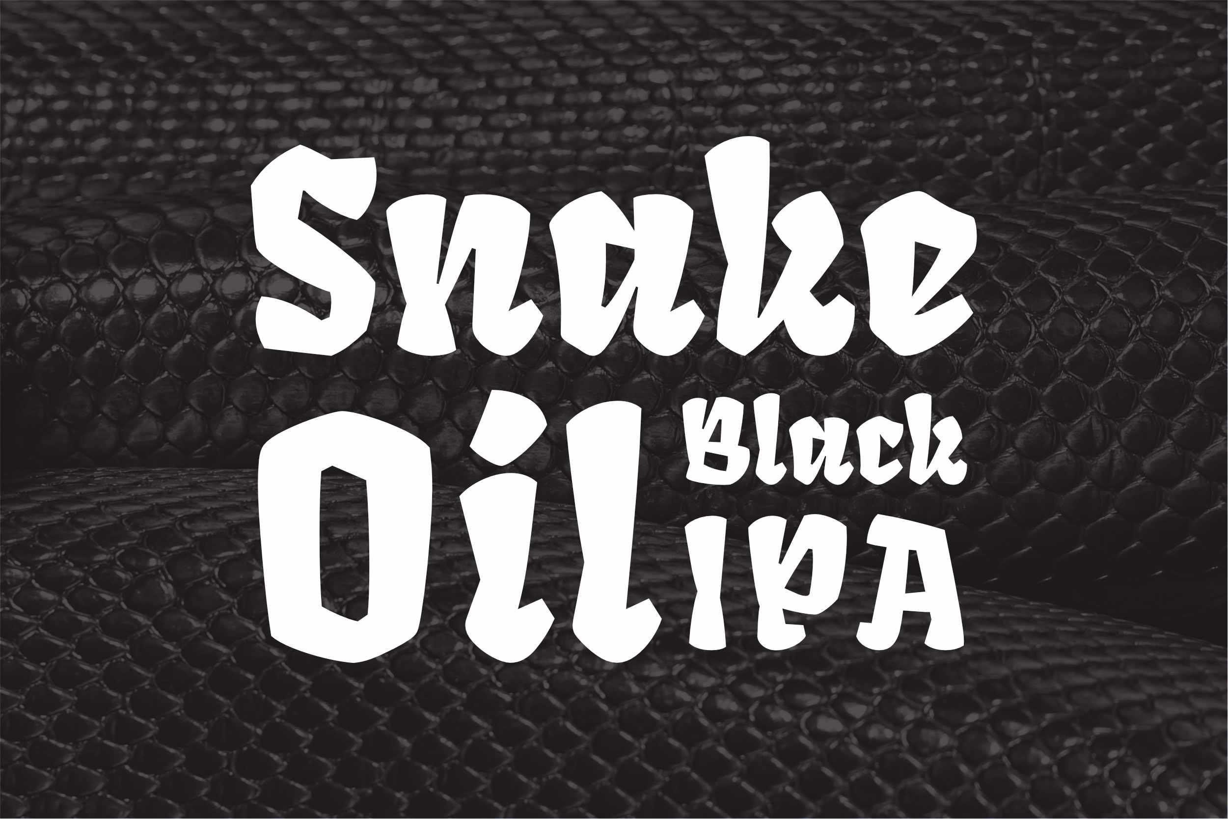 Snake Oil Black IPA